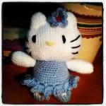 Hello Kitty Bailarina Azul - Amigurumi