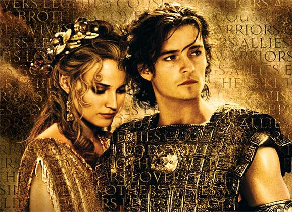 Helena y Paris - Troya